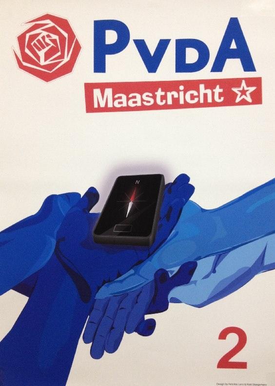 PvdA Maastricht verkiezingsposter 2014