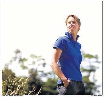 Manon op de berg - foto Annemiek Mommers 2012